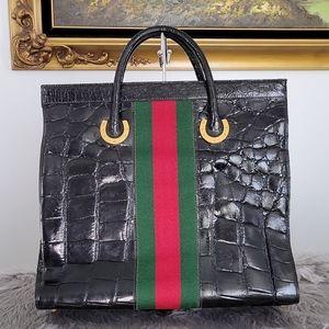 Gucci Crocodile Cherryline tote bag